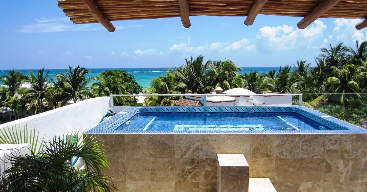 Rooftop-Pool-Beach-House-Rental-Playa-Del-Carmen